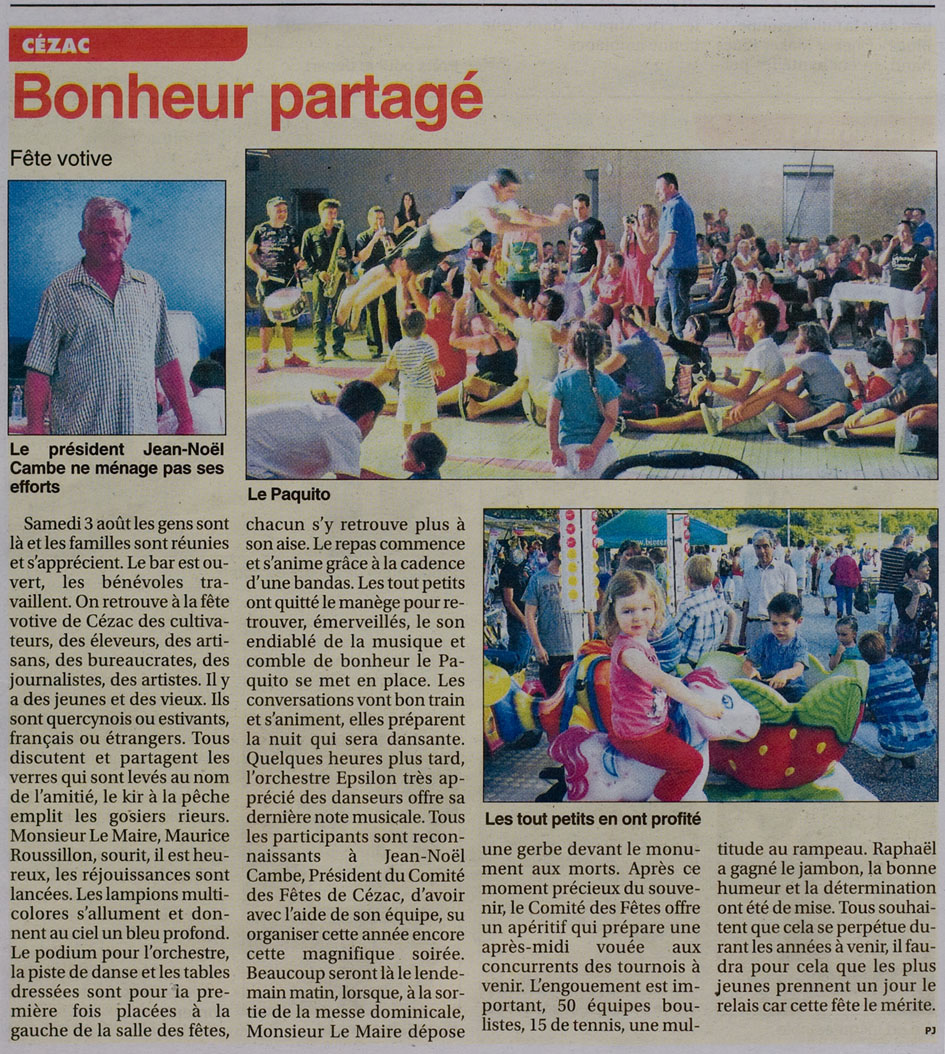 le petit journal l hebdo local du lot 28 aout 2013